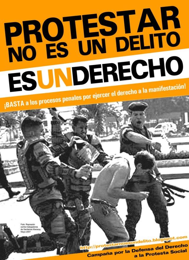 Protestar no es un delito, es un DERECHO