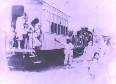 Ferrocarril El Vigia Santa Barbara en la década de 1920 - 1930
