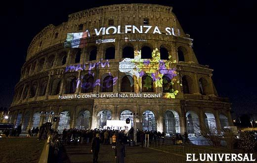 Contra la violencia de género. Roma, Italia. Diario El Universal.