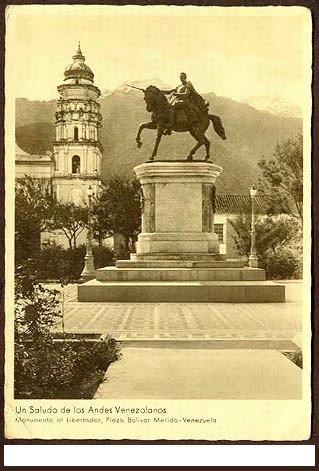 Plaza Bolívar de Mérida. Inicios del Siglo XX.