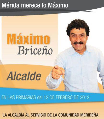 Maximo Briceño Candidato a Alcalde por la Unidad
