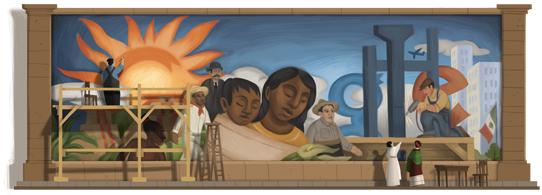 La Igualdad de Diego Rivera el doodle de Google 08/12/2011