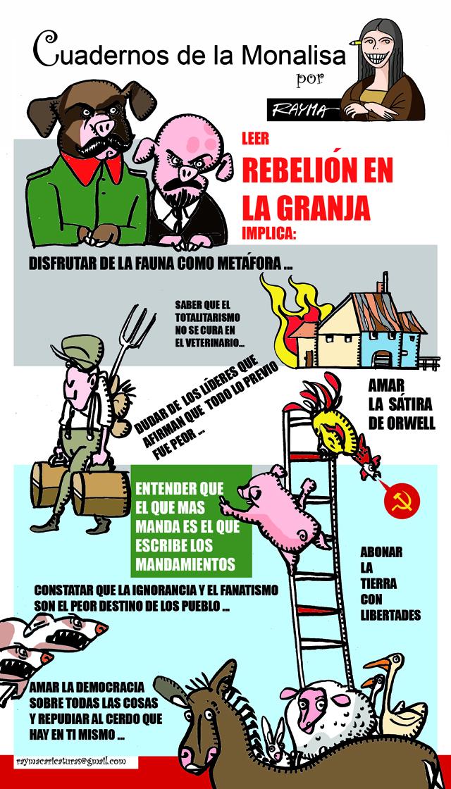 Rebelión en la granja, por Rayma