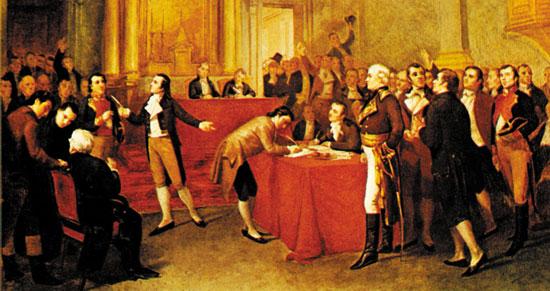 Declaración de Independencia. Por Tovar y Tovar