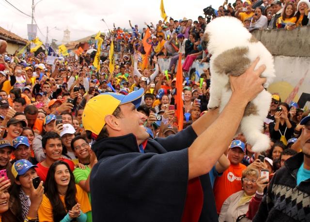 Henrique Capriles en Mucuchíes, Mérida. 08 de agosto de 2012