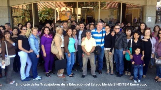 Sindicato de los Trabajadores de la Educación del Estado Mérida. Enero 2015