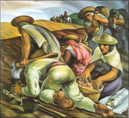 """Eduardo Kingmar, ecuatoriano: """"Saca de papas"""", 1939"""